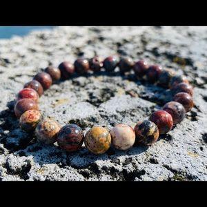 Jewelry - Handmade Leopard Jasper Bracelet